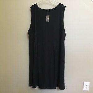 NWT$109 J JILL Wearever black pleat shift dress 4X